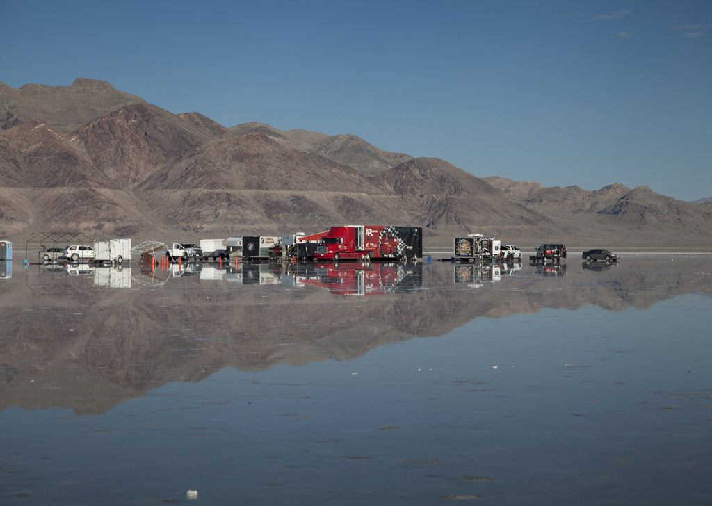 When it rains, it pours. Bonneville Salt Flats under water. Photo: BonnevilleStories.com